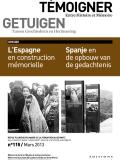 N° 115 (mars 2013) : L'Espagne en construction mémorielle