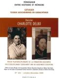 N° 105 (décembre 2009) : Charlotte Delbo