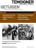 N°110 (10/2011) Déplacements, déportations, exils
