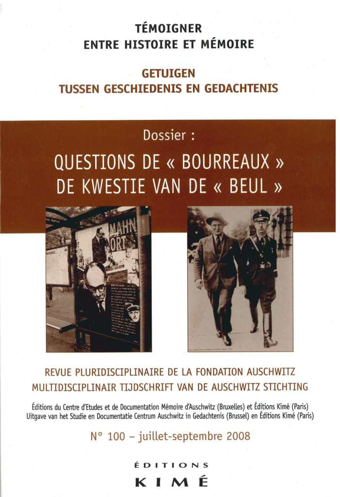 N° 100 (septembre 2008) : Questions de « bourreaux »